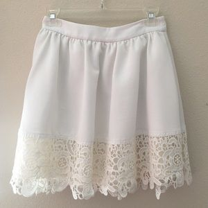 Express White Skirt with Lace